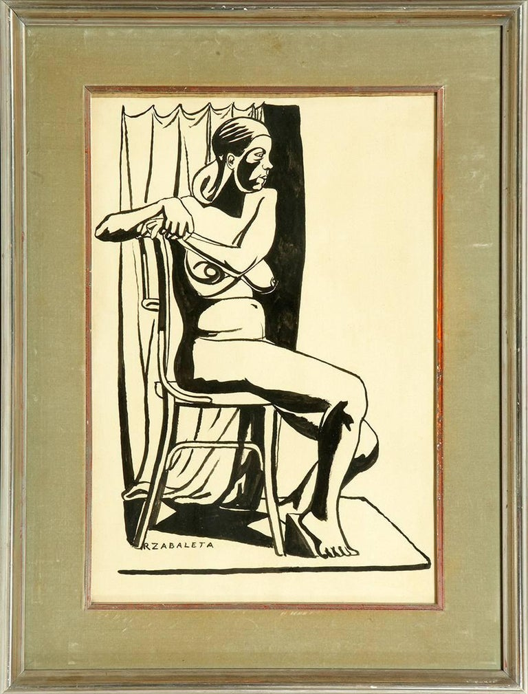 Signed: R. Zabaleta. Ink on paper He was born in Quesada in 1907 into a well-off family. In 1925 he traveled to Madrid to study at the School of Fine Arts of San Fernando. Two years later he is appointed Delegate of the National Artistic Treasure.