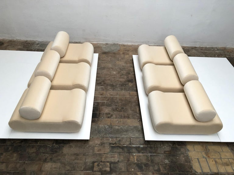 Mid-Century Modern Seating as Minimalist Sculpture, 6 Elements, Klaus Uredat, 1969 for COR, Germany For Sale