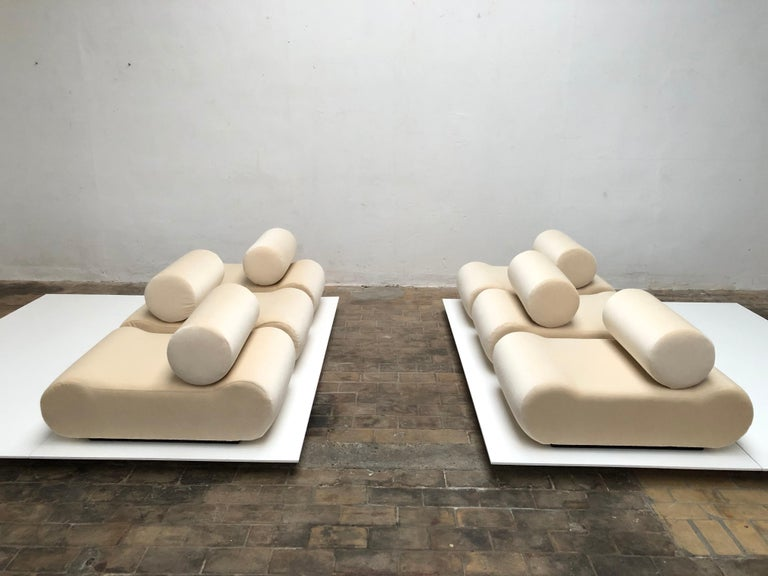 Mohair Seating as Minimalist Sculpture, 6 Elements, Klaus Uredat, 1969 for COR, Germany For Sale
