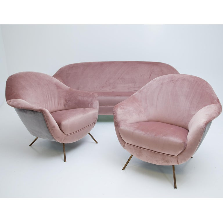 Brass Seating Group, Italy, Mid-20th Century