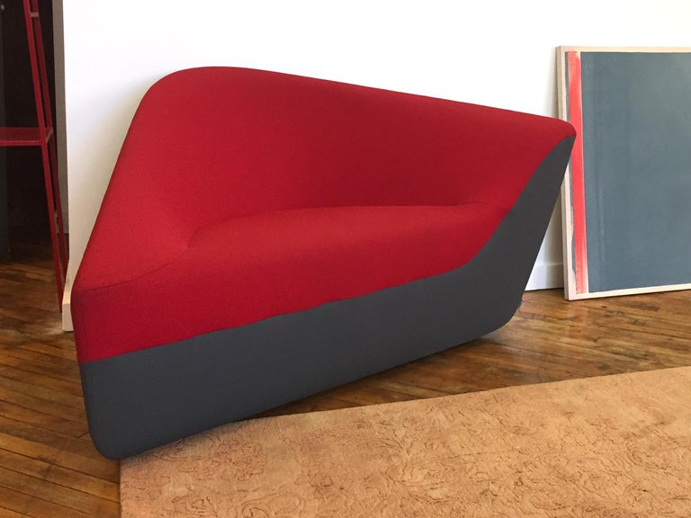 Modern Seating Stone Lounge in Red Fabric by EOOS and Walter Knoll For Sale