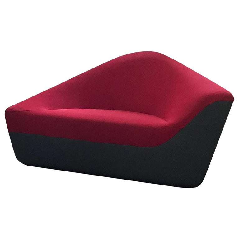 Seating Stone Lounge in Red Fabric by EOOS and Walter Knoll For Sale