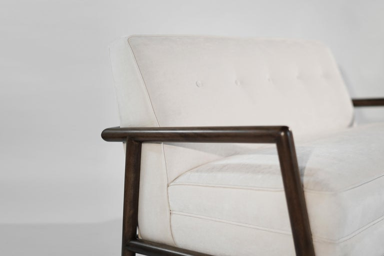 Velvet Seating Suite by T.H. Robsjohn-Gibbings for Widdicomb, 1950s For Sale