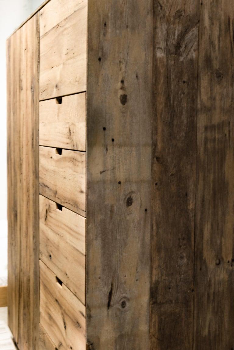 SEBA Wardrobe in Reclaimed White Oak by Hopes Woodshop 2