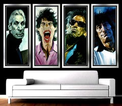 SEBASTIAN KRUGER Original Giclee 40x40 Suite The ROLLING STONES Signed Painting