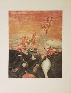 Così Fan Tutte - Original Etching by R.S. Matta - 1970