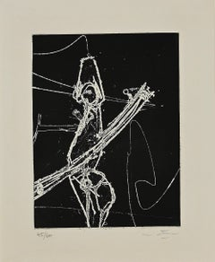 F.S.A.V. - Original Etching and Aquatint by Sebastian Matta - 1965