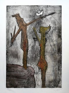 Personnages I - Original Lithograph by S. Matta - 1967