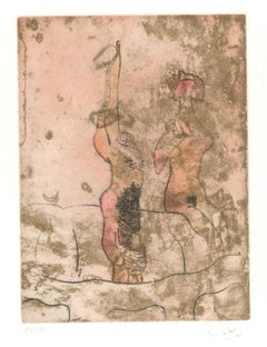 Untitled Plate 10 from Paroles Peintes Suite - 1970s - Sebastián Matta