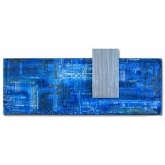 Abstract Metal Art Modern Industrial Hand-Painted Wall Sculpture by Sebastian
