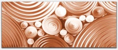 Copper Modern Industrial Abstract Original Metal Wall Art Sebastian R.