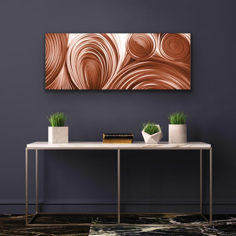 Large Copper Modern Industrial Abstract Original Metal Wall Art Sebastian Reiter For Sale 1
