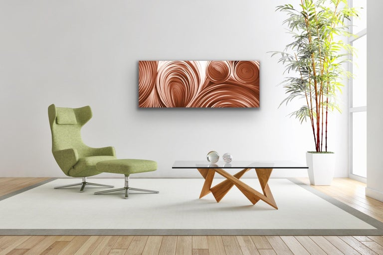 Large Copper Modern Industrial Abstract Original Metal Wall Art Sebastian Reiter For Sale 2