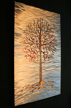 Metal Tree Modern Landscape Original Copper Metal Wall Art Sebastian Reiter