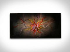 Modern Metal Art Abstract Industrial Hand-Painted Wall Sculpture by Sebastian