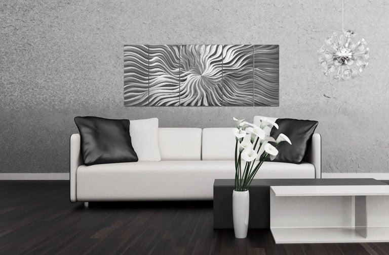 Sebastian R. Original Modern Metal Abstract Wall Art Deco Sculpture Contemporary For Sale 2