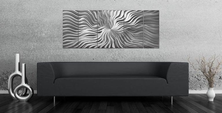 Sebastian R. Original Modern Metal Abstract Wall Art Deco Sculpture Contemporary For Sale 3