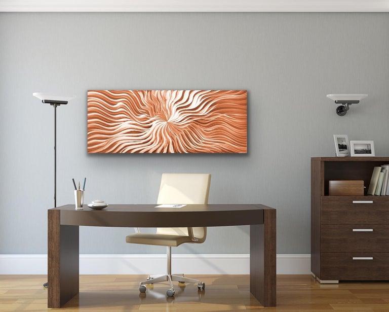 Contemporary Copper Wall Art, Abstract Modern Metal Art, Sebastian R - Sculpture by Sebastian Reiter