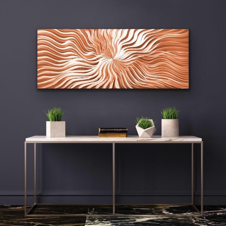 Contemporary Copper Wall Art, Abstract Modern Metal Art, Sebastian R - Brown Abstract Sculpture by Sebastian Reiter