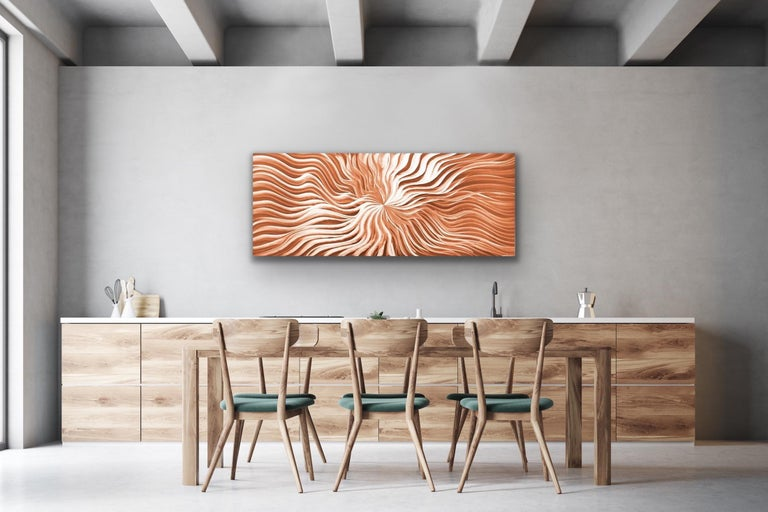 Contemporary Copper Wall Art, Abstract Modern Metal Art, Sebastian R For Sale 1