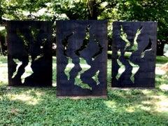 Contemporary Modern Industrial Sculpture Outdoor Rustic Metal Yard Garden Art