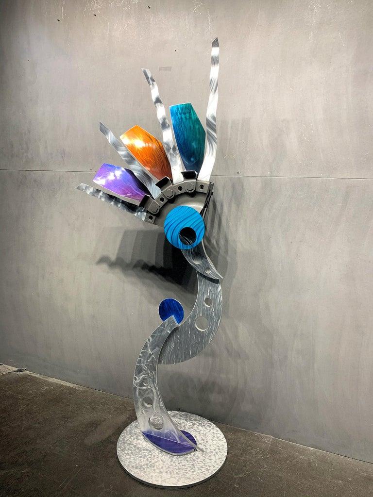 Indoor Outdoor Modern Metal Yard Garden Art Industrial Sculpture Contemporary For Sale 1