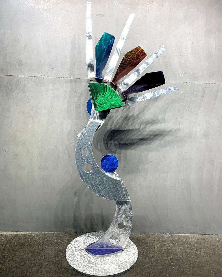 Indoor Outdoor Modern Metal Yard Garden Art Industrial Sculpture Contemporary For Sale 3