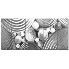 Metal Wall Art Sculpture Modern Contemporary Hand-Ground Raw Aluminum Sebastian