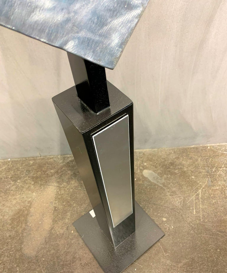 Modern Metal Yard Garden Art Indoor Outdoor Industrial Sculpture Contemporary For Sale 9