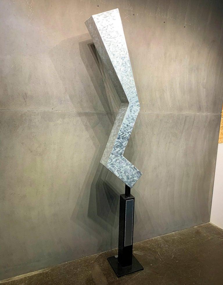 Modern Metal Yard Garden Art Indoor Outdoor Industrial Sculpture Contemporary For Sale 1