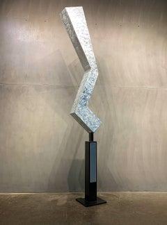 Modern Metal Yard Garden Art Indoor Outdoor Industrial Sculpture Contemporary