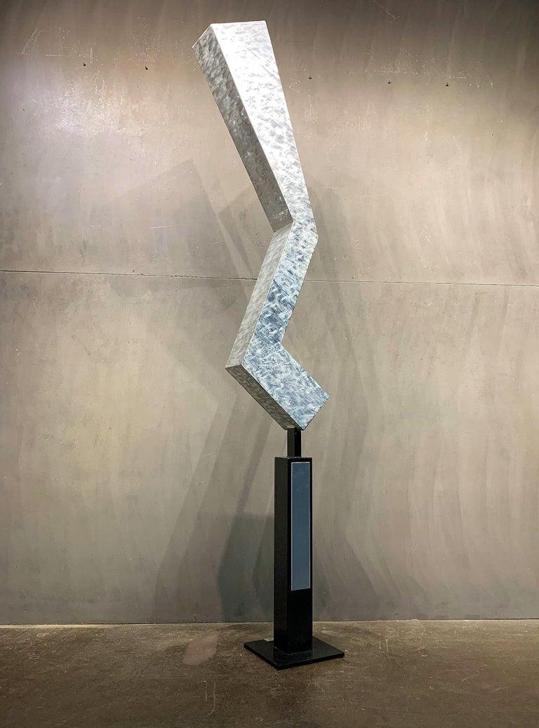 Modern Metal Yard Garden Art Indoor Outdoor Industrial Sculpture Contemporary - Mixed Media Art by Sebastian Reiter