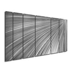 Sebastian R. Aluminum Abstract Wall Sculpture Industrial Modern Contemporary