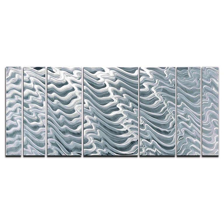 Sebastian R. Aluminum Wall Sculpture Contemporary Original Industrial Modern  For Sale 1