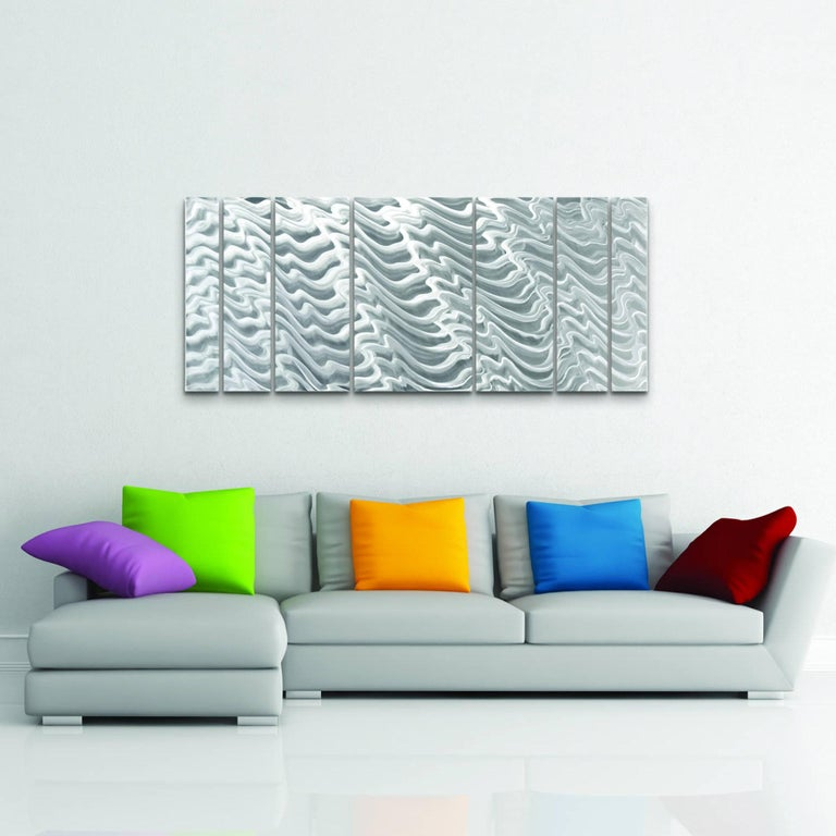 Sebastian R. Aluminum Wall Sculpture Contemporary Original Industrial Modern  For Sale 3