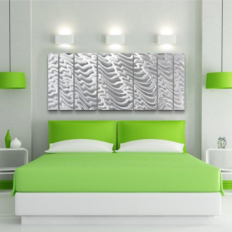 Sebastian R. Aluminum Wall Sculpture Contemporary Original Industrial Modern  For Sale 4
