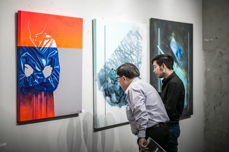 Untitled Raincoat 8 - Contemporary Painting by Sebastian Riffo Montenegro