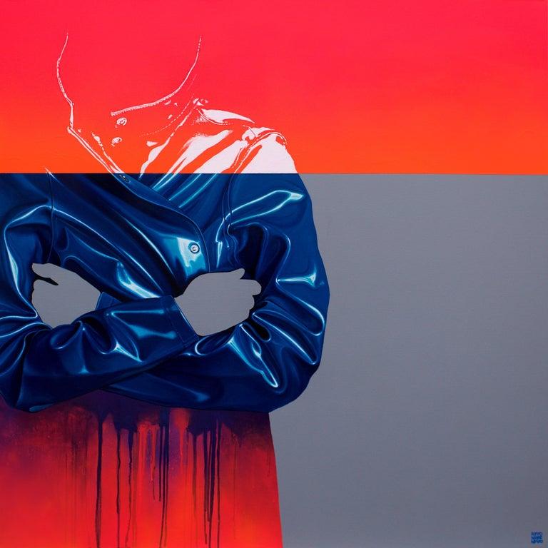 Sebastian Riffo Montenegro Figurative Painting - Untitled Raincoat 8