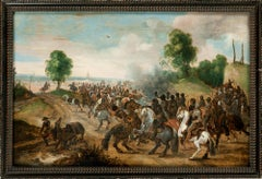 A cavalry skirmish, Old Master, Battle Scene, Sebastian Vrancx, 17th century