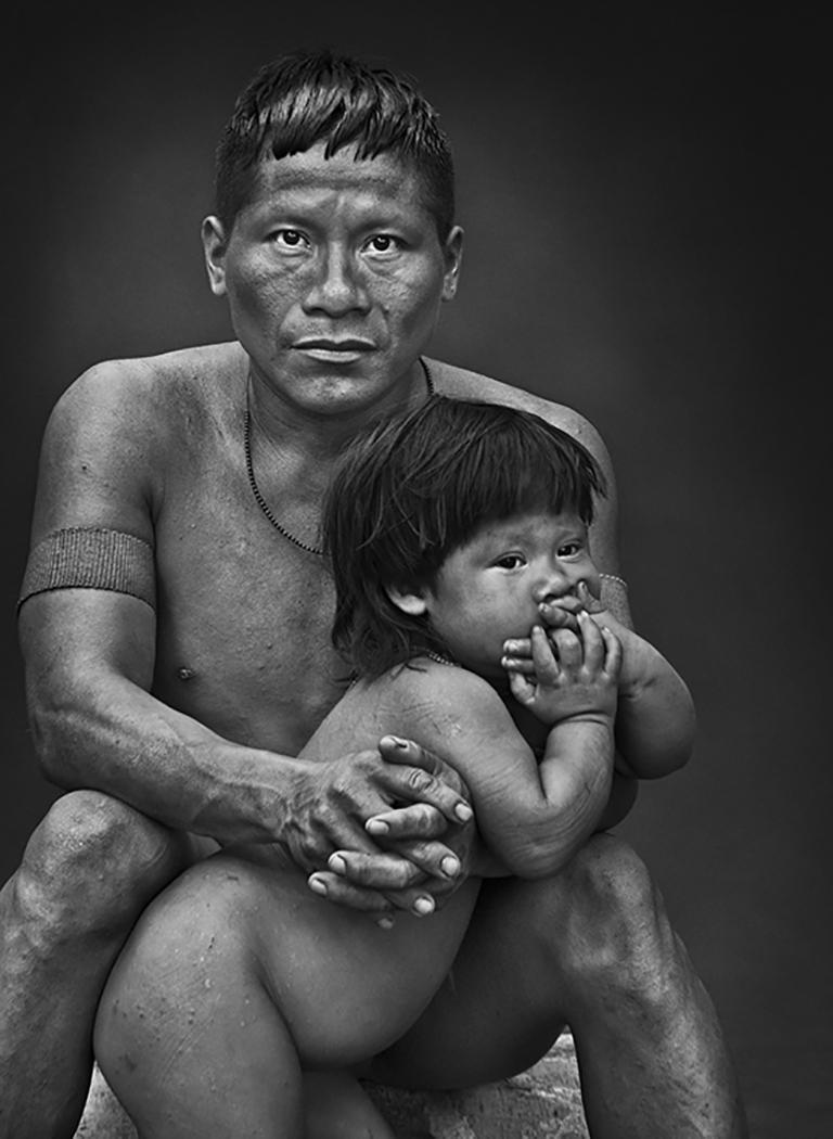 Sebastião Salgado Black and White Photograph - Korubo, Amazonas, Brazil