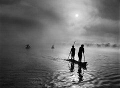 Waura people fishing in the Piulaga Lake. Upper Xingu, Mato Grosso, Brazil