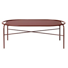 Secant Oval Table in Steel Frame, by Sara Wright Polmar from Warm Nordic