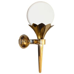 Secessionist Torch sconce handcrafted artistic work Woka Lamp Re-Edition