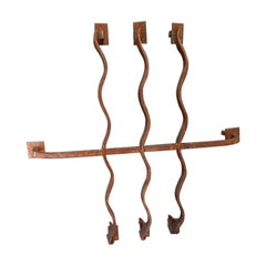Second Half of 20th Century French Wrought Iron Window Bars Probably from a Bank