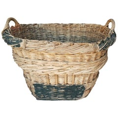 Second Half of the 20th Century Vintage French Champagne Wicker Grapes Basket