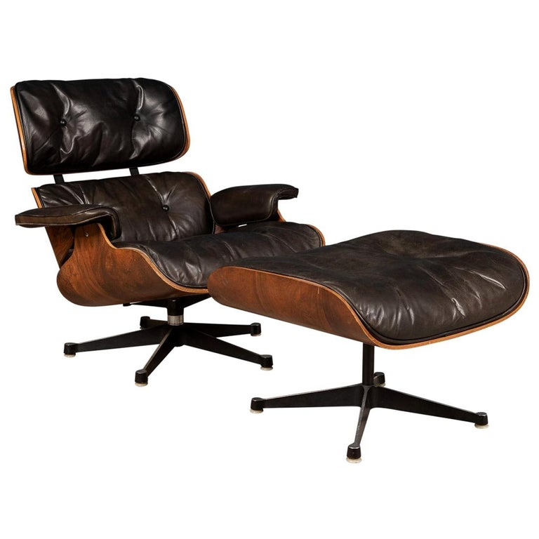 Second Series Eames Lounge Chair & Ottoman, Herman Miller, Circa 1970 For Sale