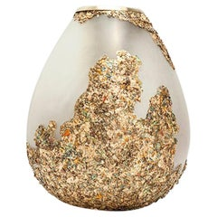Second Skins, Gold and Silver Flake Vase by Tamara Barrage for House of Today