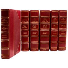 """Second World War"" by Winston Churchill, First Edition, Asprey Bindings"