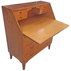 Secretaire / Scriban Art Deco in Maple Veneer, circa 1950