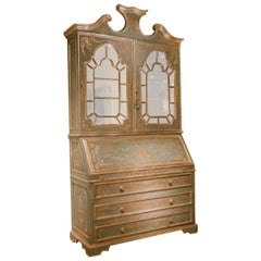 Secretaire with Hand Carved Art Work and Gilding